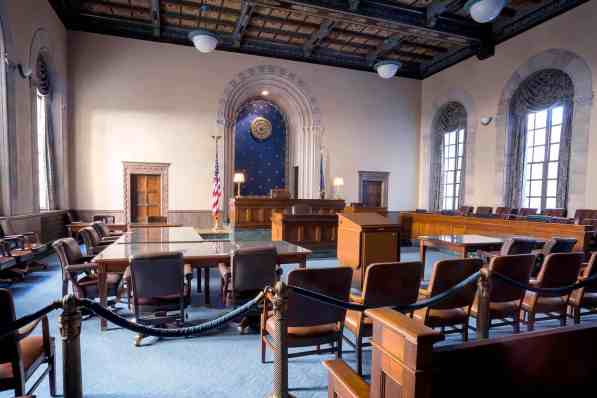 Judge Frank Johnson's courtroom in the Frank M. Johnson Jr. Federal Courthouse in Montgomery. (contributed)