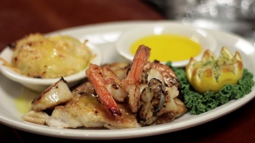 The Broiled Seafood Platter at The Bright Star is on the Alabama Tourism Department's list of 100 Dishes to Eat in Alabama. (Chad Allen / Alabama NewsCenter)