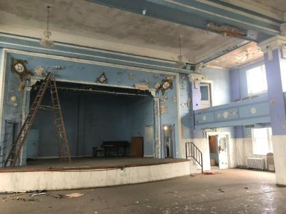 Echoes of the Birmingham Masonic Temple's grandeur remain in the vacant building. (Michael Sznajderman / Alabama NewsCenter)