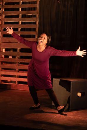 Shronda Major performs in Pretty Little Fire at Terrific New Theatre. (contributed)