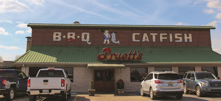 Pruett's Bar-B-Q, on busy Rainbow Drive in Gadsden, serves up barbecue as well as chicken, turkey and catfish. (Jennifer Kornegay / Alabama Living)