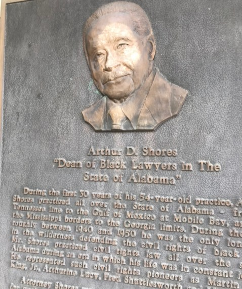 A marker tells the story of Arthur D. Shores. (contributed)