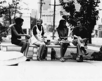 UAB students in 1970. The Historic Red Ore Express walking tour isn't just about historic sites. It's about the people who worked or spent time there. Oral history is blended into the narration. (contributed)