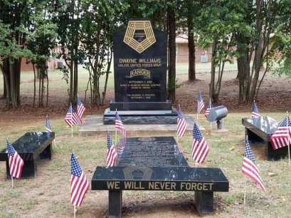 A memorial to Maj. Dwayne Williams at Jacksonville City Cemetery. (contributed)