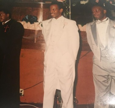 Dwayne Williams, right, serves as best man in his brother Roy's 1991 wedding. (contributed)