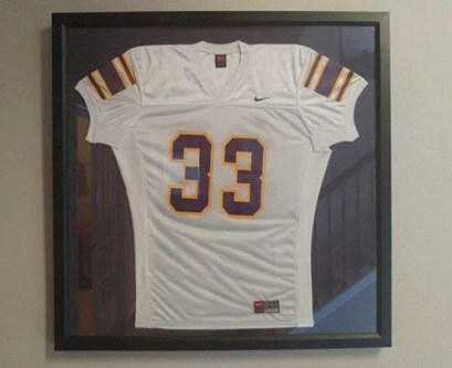 The University of North Alabama retired Dwayne Williams' football jersey in his honor. (contributed)