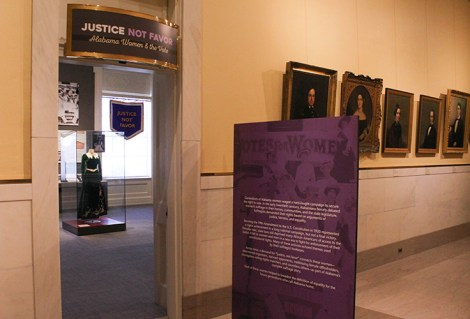 """""""Justice Not Favor: Alabama Women and the Vote"""" exhibition explores the compelling story of the long fight to secure voting rights for women in the state. (Alabama Department of Archives and History)"""