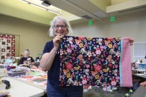 Susan Wagner's completed pillowcase. (Meg McKinney / Alabama NewsCenter)
