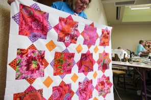 Jenae Richmond completed her top with rich magenta colors during the retreat. (Meg McKinney / Alabama NewsCenter)