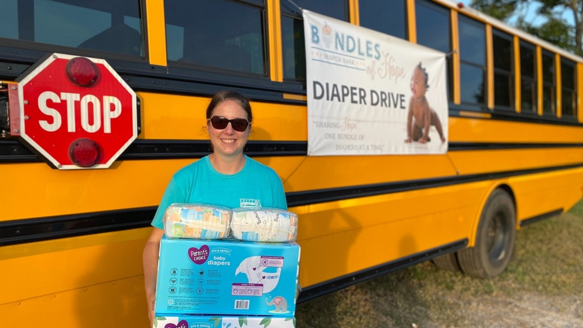 Stuff the Bus drive nets nearly 430,200 diapers for families in need