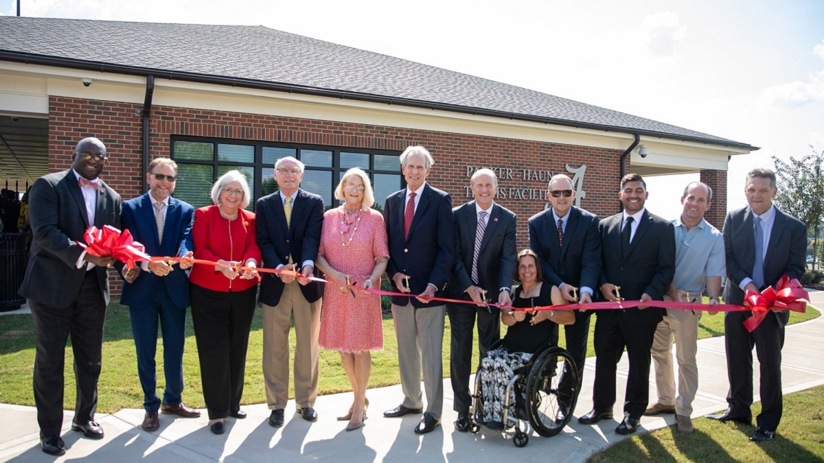 University of Alabama Adapted Athletics celebrates ribbon-cutting for Parker-Haun Tennis Facility