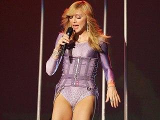 Madonnas skin tight spandex cameltoe