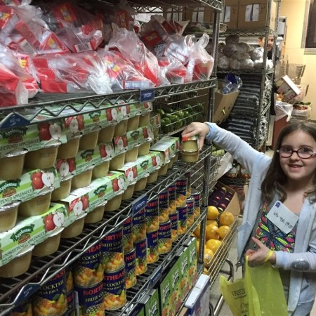 service learning at the food pantry