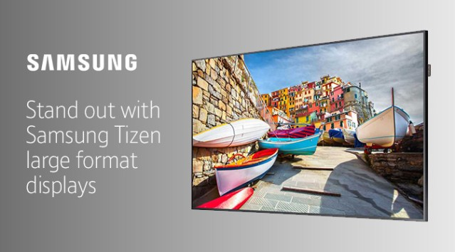 Make your business stand out with Samsung's Premium TIZEN Large Format display