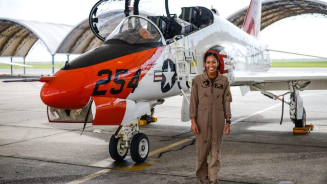 U.S. Navy's first Black female tactical jet pilot gets her 'wings of gold' in Texas
