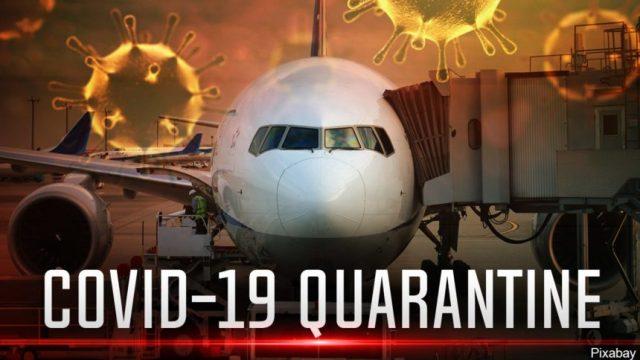 covid quarantine plane air travel