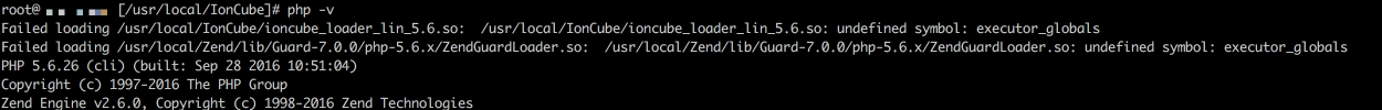 "How to fix IonCube/ZendGuard ""undefined symbol: executor_globals"" after upgrading Apache and PHP"