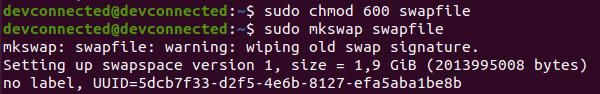mkswap swap file