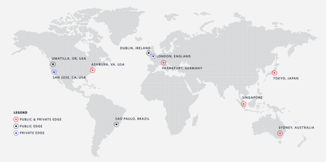 Map of Twilio SIP endpoints JP