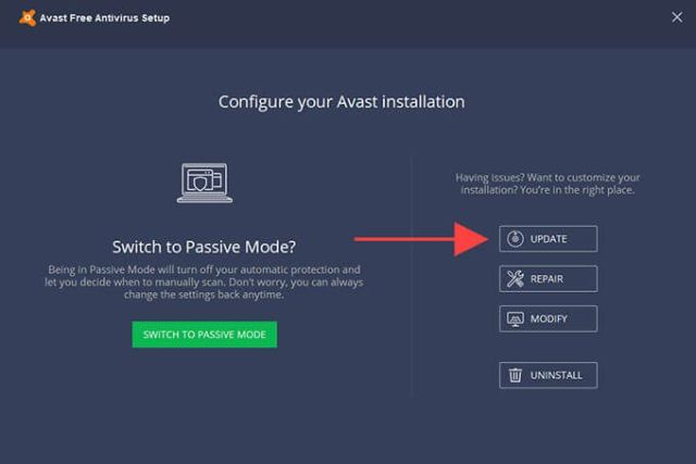 Configure Avast Installation