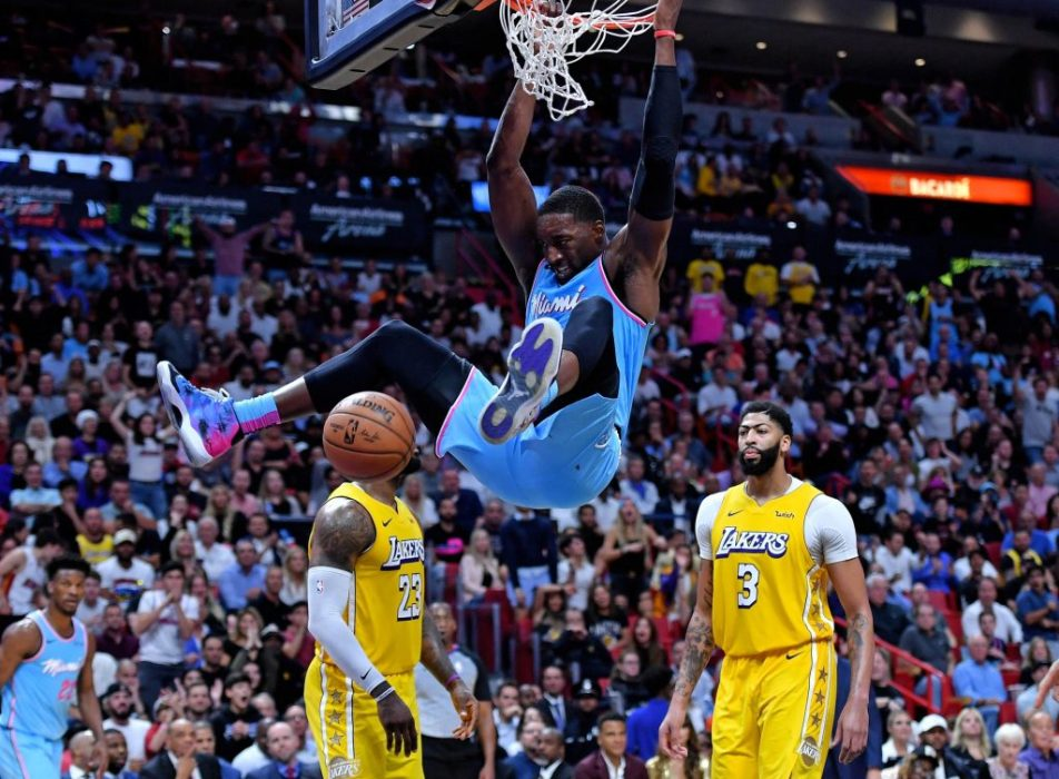 Heat Bam Adebayo against the Lakers