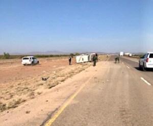 6 hurt when Border Patrol van carrying migrants is run off I-10 near Van Horn
