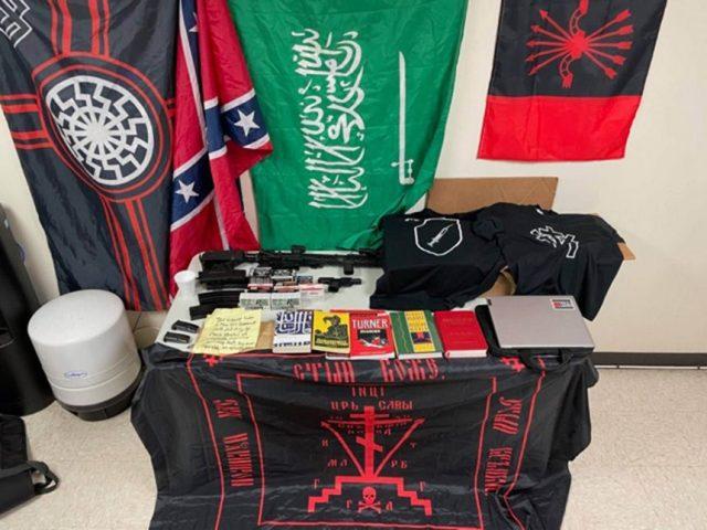 walmart suspect guns racist items