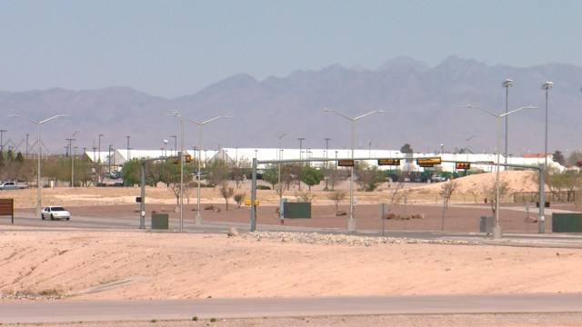 Migrant facility on Fort Bliss