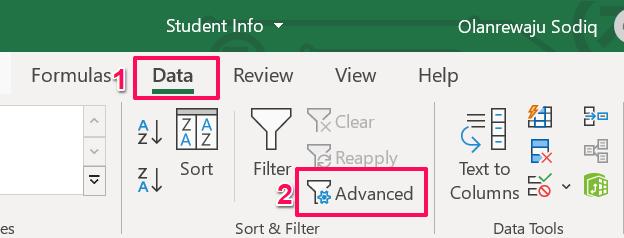 18 advanced filter tool