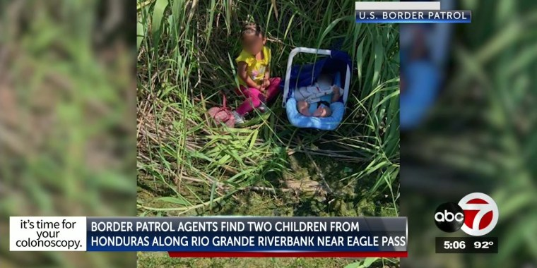 Border agents rescue toddler and baby from river