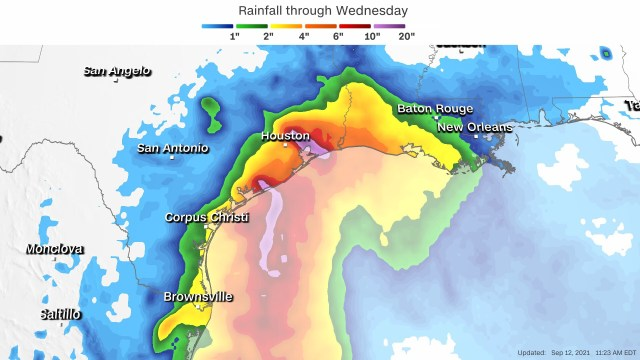 Tropical Storm Nicholas forms over Gulf of Mexico, with Texas in its path