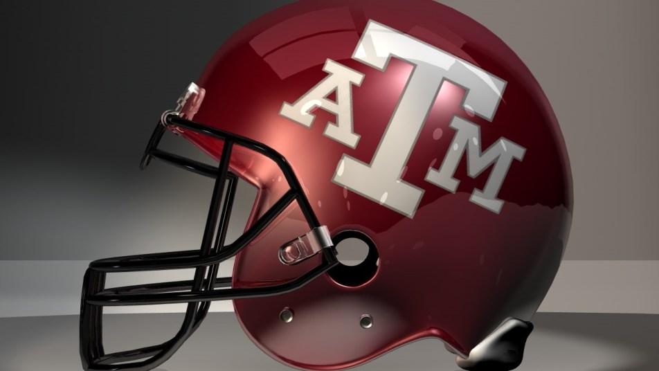 texas a&m football helmet