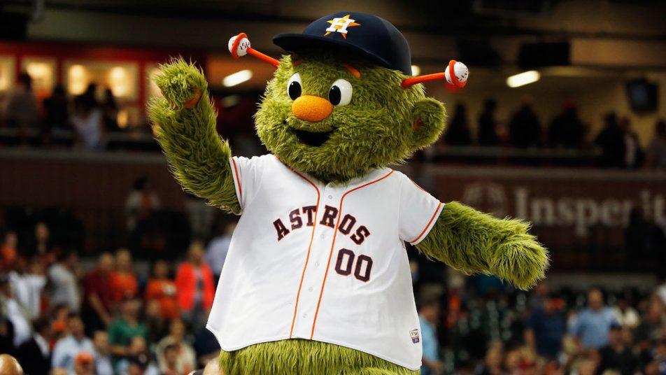 Houston Astros mascot Orbit