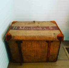 One of Mme. Modjeska's theatrical trunks.