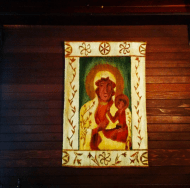 A Black Madonna icon made for Mme. Modjeska in Poland.