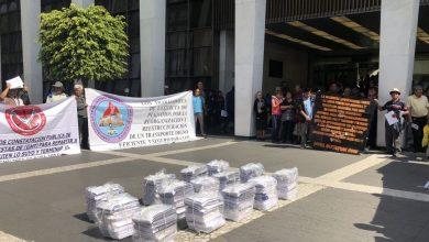 Photo of Ex trabajadores de Ruta 100 demandan a Gabino Camacho