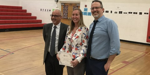 Kris Croteau Named School Counselor of the Year.