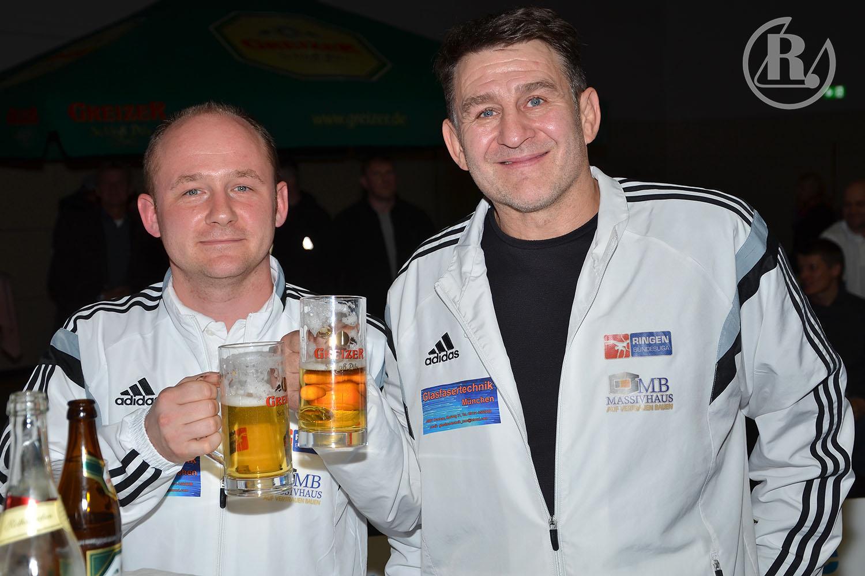RSV-Rotation-Trainer Tino Hempel (r.) und Swen Lieberamm