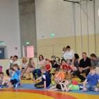Viele interessierte Gäste wohnten den Kreisjugendspielen im Ringen bei.