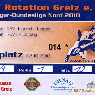 Jugendliga Mitteldeutschland: RSV Rotation Greiz/Jugend gegen WKG Leipzig/AC Taucha/Jugend