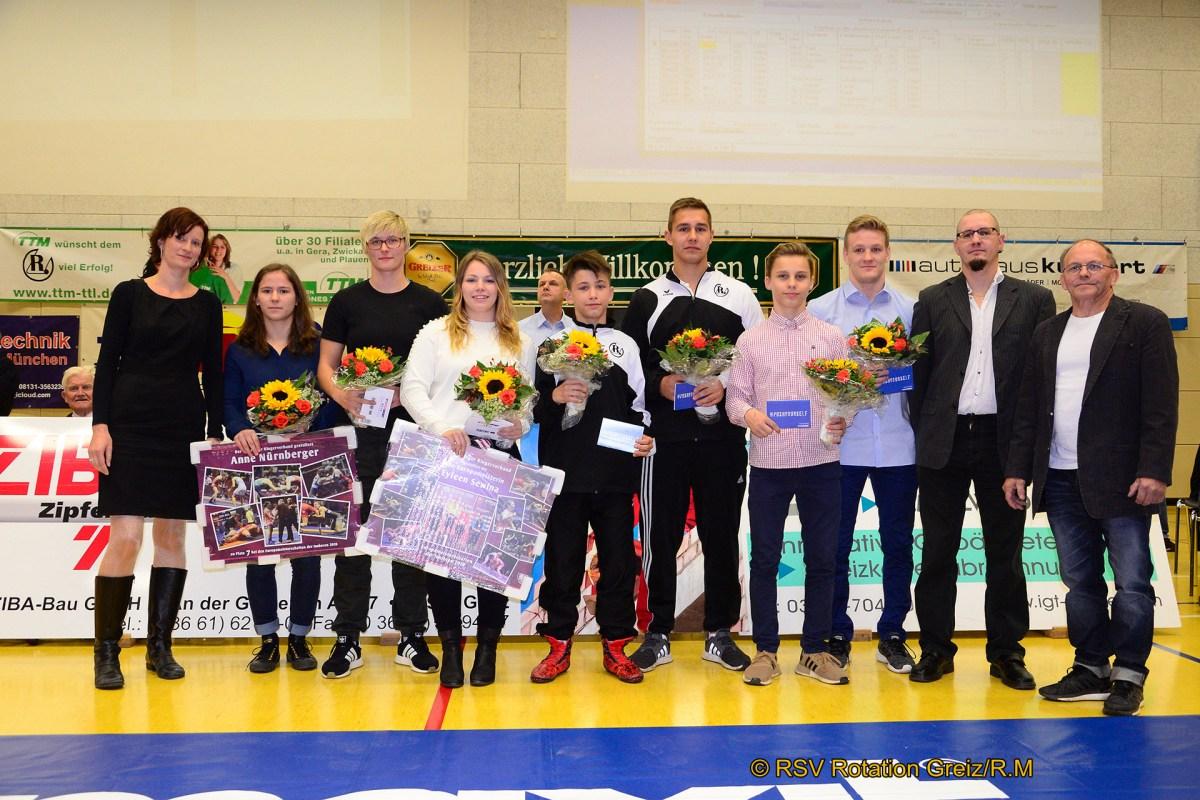Thüringer Ringerverband zeichnet seine Besten in Greiz aus
