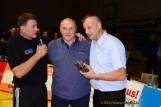 RSV-Präsident Thomas Fähndrich, Frank Böttger (seit 30 Jahren Hallensprecher/58.Geburtstag) und Trainer Tino Hempel
