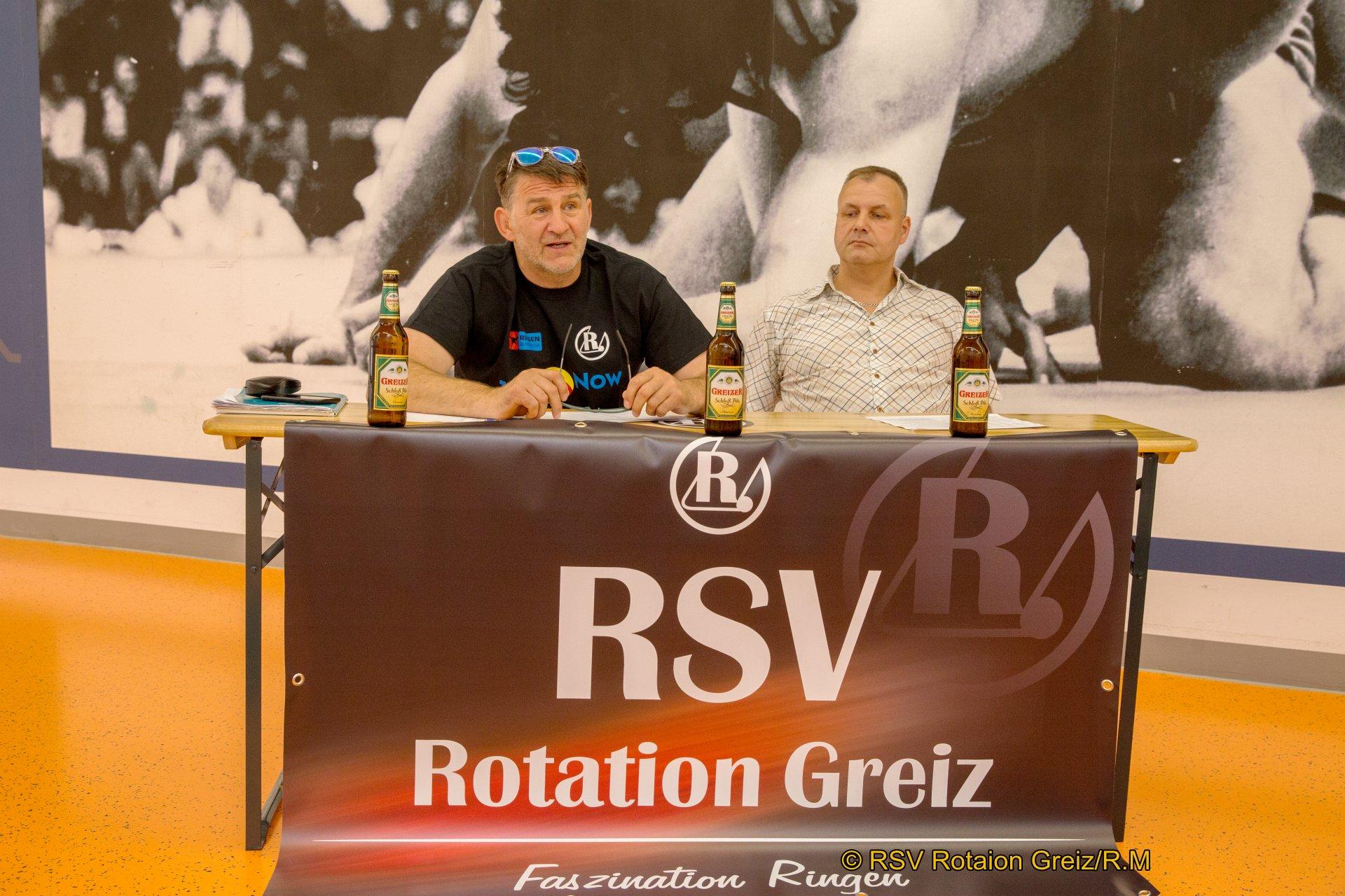 Pressekonferenz des RSV Rotation Greiz mit Trainer Tino Hempel und Präsident Thomas Fähndrich