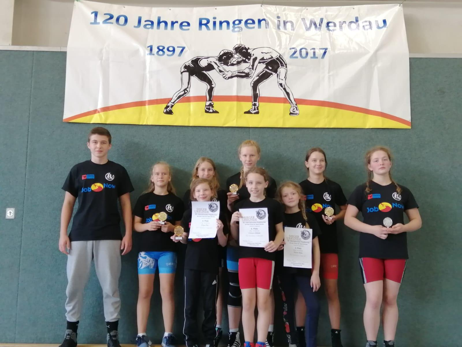 Das Greizer Team Mädchen in Werdau.
