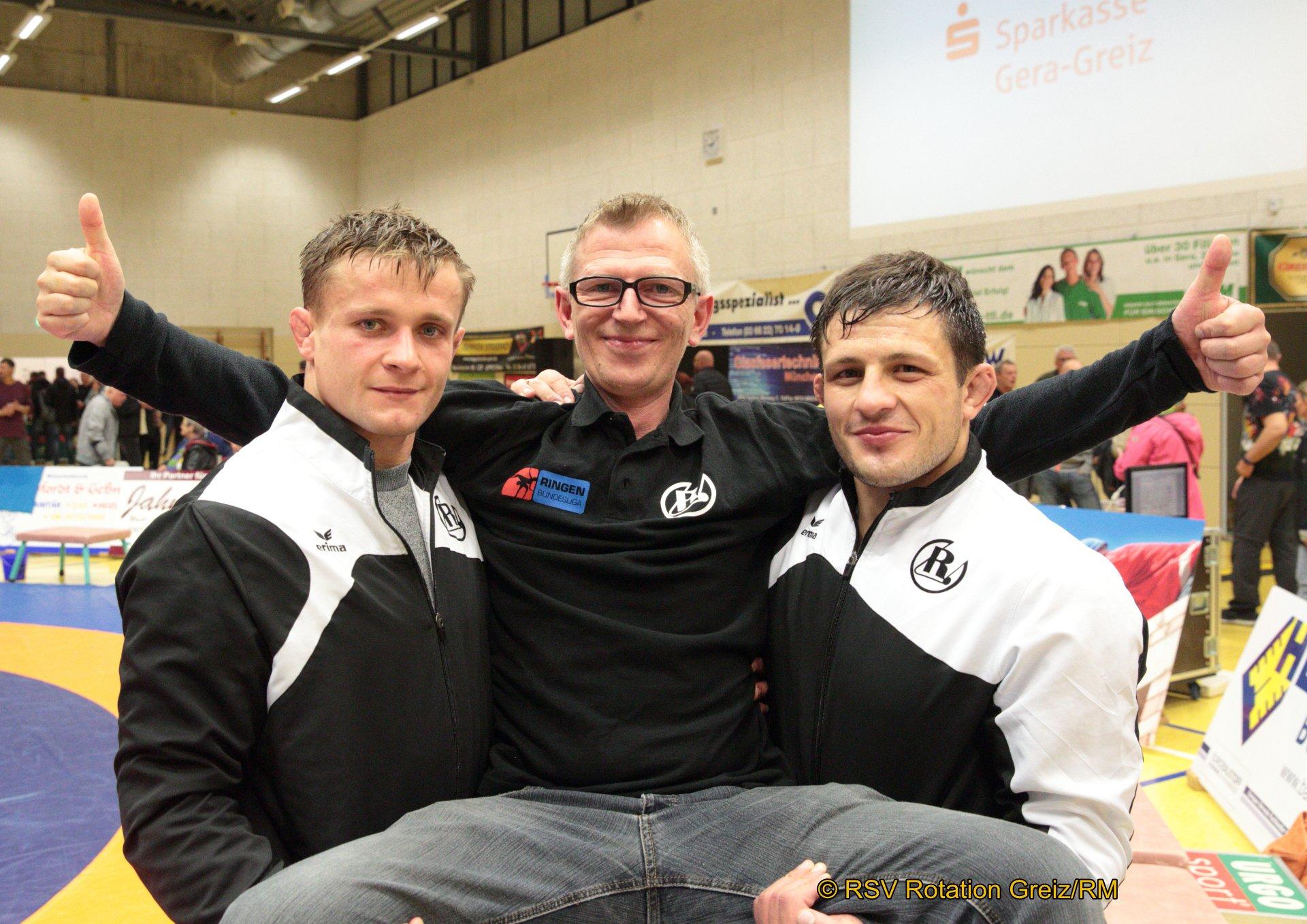 Mateusz Wolny, Sponsor Maik Wolfrum und Igor Besleaga