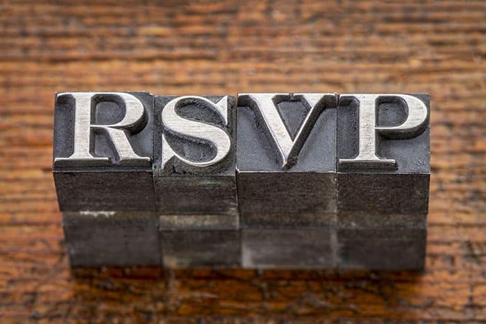 RSVP P's and Q's: Etiquette