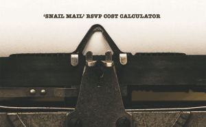 Snail mail paper RSVP cost calculator image