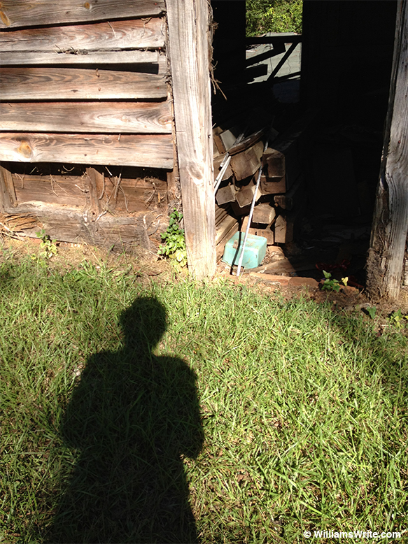 Shadow by Handley House shed (LaGrange, Georgia - 9 September 2012)