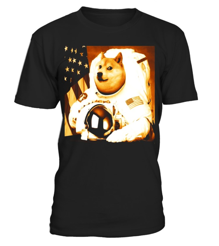 Dogecoin moon astronaut crypto-currency meme money shirt ...