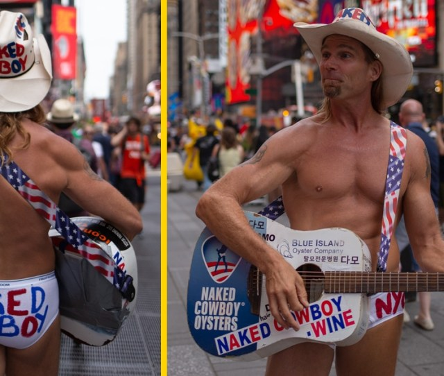 The Naked Cowboy Exposed A Day In The Life Of Times Squares Most